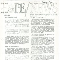 Image of HOPE/NEWS August 1964 page 1
