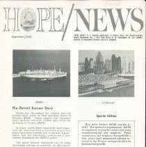 Image of Newsletters - HOPE/NEWS September/1964