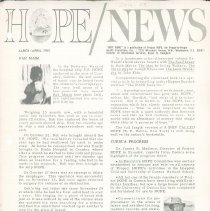 Image of Newsletters - HOPE/NEWS March/April 1965