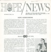 Image of HOPE/NEWS September/October 1965 page  1
