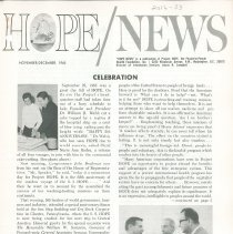 Image of HOPE/NEWS November/December 1965 page 1