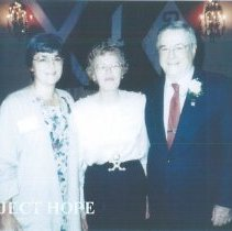 Image of Joanne Jene, Eleanor Long, and Dr Walsh at the San Francisco reunion.