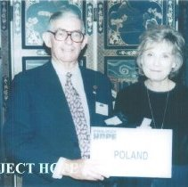 Image of Dr Hal Royaltey and Mary Elmore at 1996 reunion in Seattle.