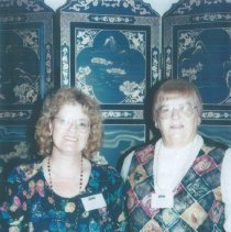 Image of ? and Delores Delcoma at the 1996 reunion in Seattle.
