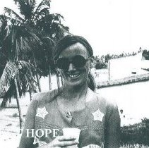 Image of Anita Lystad Cabanilla in Natal Brazil in 1972.