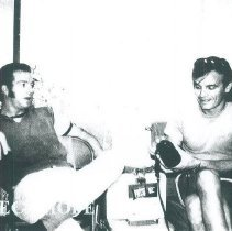 Image of ? and Rudy Fagioli in Natal Brazil in 1972.