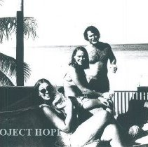 Image of Aggie Fee, Mary Walsh and John Walsh in Natal Brazil in 1972.