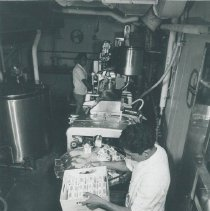 Image of HOPE's Iron Cow on the SS HOPE on Voyage I 1960.