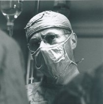 Image of A surgeon on the SS HOPE on Voyage I.