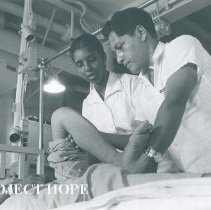 Image of Physical Therapist Vivan Cross White with counterpart on Voyage III Ecuador