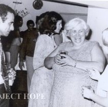 Image of From right:  Nancy Chandler, June Hudson and Michelle Worthing, party 1978.