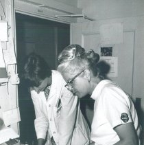 Image of Dorothy Walpole and Dr Nancy Hopwood, EENT clinic, in Jamaica Voyage IX.