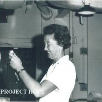 Image of Pat Sweet. nurse, in Jamaica Voyage IX.