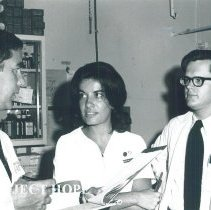 Image of Dr Brooke Poley, Dorothy Hodson and Dr Patrick Moore in Jamaica IX.
