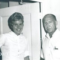 Image of Dr Ben Owens and Ruth Elmore aboard the SS HOPE in Jamaica Voyage IX.