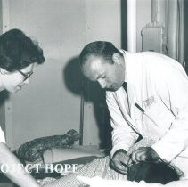 Image of Sister Rosalie and Dr Paul Morgan, Oral Surg., in Jamaica Voyage IX.