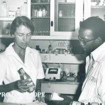 Image of Margaret Pettibone, Med Tech, and counterpart in Jamaica Voyage IX.