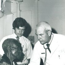 Image of Dr Galen Fields and med student Joe Izzo in Jamaica Voyage IX.