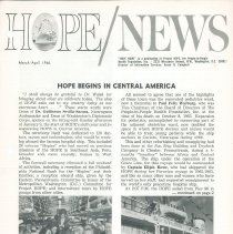 Image of Newsletters - HOPE/NEWS March/April 1966