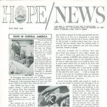 Image of Newsletters - HOPE/NEWS May/June 1966