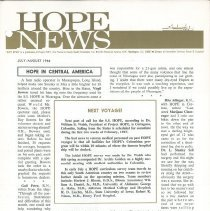 Image of HOPE/NEWS July/August 1966 Page 1