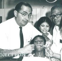 Image of Haskell Grube and Martha Flore in Dental clinic in Jamaica Voyage IX.