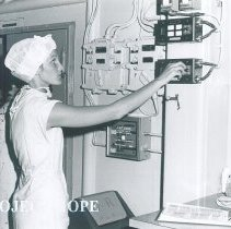 Image of OR nurse Rhonda DeValois aboard SS HOPE in Jamaica Voyage IX.