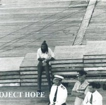 Image of SS HOPE arrival in Jamaica Voyage IX.