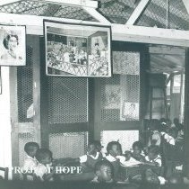Image of Class room in St Michaels School in Jamaica Voyage IX.