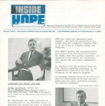 Image of INSIDE HOPE ca. 1968 page 1