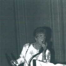 Image of Ethel Black receiving award at 1988 reunion in San Francisco.