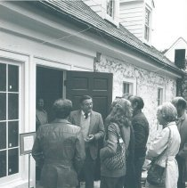 Image of Dr. Walsh gives tour of Stone House in 1978.