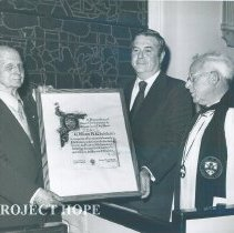 Image of William Hannis Perot, Dr. William B. Walsh, Rev. Ernest A. Harding