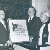 Image of William B. Walsh - Dr. Walsh receiving the 1974 Magna Carta Day Award