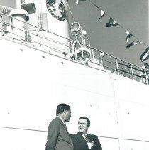 Image of Dr Walsh and Vincent deRoulet, US Ambassador to Jamaica Voyage IX.