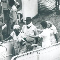 Image of Patients on the gangway in Jamaica Voyage IX.