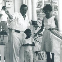 Image of Patient coming aboard the SS HOPE in Jamaica Voyage IX.