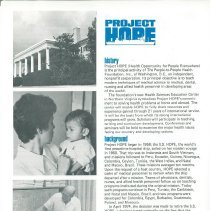 Image of Project HOPE Fact Sheet  ca. 1980 page 1