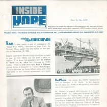 Image of Newsletters - INSIDE HOPE Vol. 1, No. 5/69
