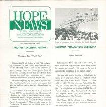 Image of Hope News January/February 1967  Page 1