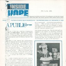 Image of Newsletters - INSIDE HOPE Vol. 2, No. 1/70