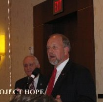 Image of Dr Howe and unknown at the 2008 Reunion in DC.