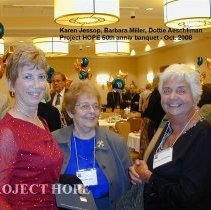 Image of Karen Jessop, Barbara Miller & Dorothy Aeschliman at the 2008 Reunion  DC.