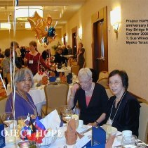 Image of Louise Ortega, Sue Willson and Miyeko Teranishi at the 2008 Reunion in DC.