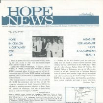 Image of Hope News Vol 5, No 3/1967 Page 1
