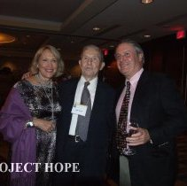 Image of Mary Walsl, Jack Turner,and John Walsh at the 50th reunion in 2008 in DC.