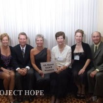 Image of US Navy/HOPE Mission staff  at the 50th reunion in 2008 in DC.
