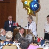 Image of Dr Howe, Dolores Delcoma and Val Cook at the 2008 HOPE reunion in DC.
