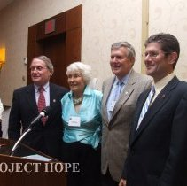 Image of John Walsh, Helen Walsh, Bill Walsh Jr and Tom Walsh 2008 reunion in DC.
