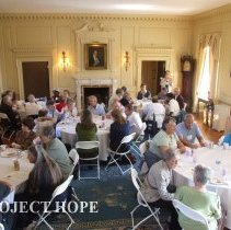 Image of Lunch at Carter Hall for thet 50th reunion in 2008 in DC.